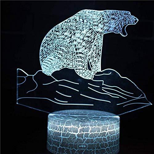 Tiger Elephant Cartoon Cute Wild Animal Beast Serie Schöne 7 Farben ändern 3D USB Schreibtisch Tisch Tamp Led Nachtlicht Kinder Geschenk Home Decoration