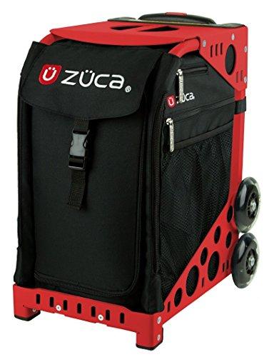 Zuca SIBO032 Sport Insert Bag Obsidian Black Logo Embroidery in Red White 89055900032