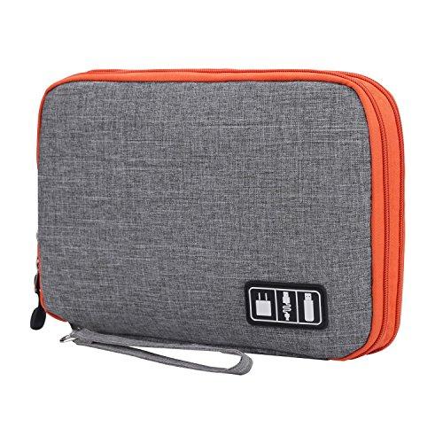 Young & Ming universal bolsa de viaje cable organizador electrónica accesorios bolsa de transporte caja para cable, Gris