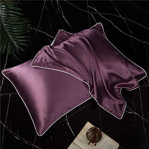 Silk Pillowcase Single Face 19Momme Silk Pillowcase Nature Mulberry Silk Pillow Case For Healthy Pillowslip Home Bedding-Color-9_48Cmx74Cm