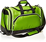 AmazonBasics - Sporttasche, Größe S, Neongrün