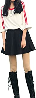 [Yangelo] レディース Tシャツ 半袖 五分袖 不規則 デザイン ストライプ 着痩せ カットソー 丸ネック ゆったり 無地 トップス ロング丈 原宿風 ファション カジュアル 普段着