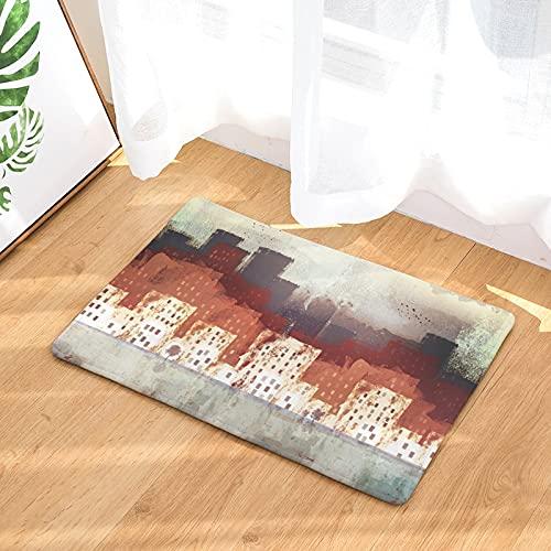 HLXX 3D Carpet Geometric Printed Floor Mat for Living Room Bedroom Machine Washable Mats Absorbent Doormat A1 50x80cm