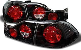 For Honda Accord 4 Door Sedan Black Bezel Rear Tail Lights Brake Driver/Passenger Lamps