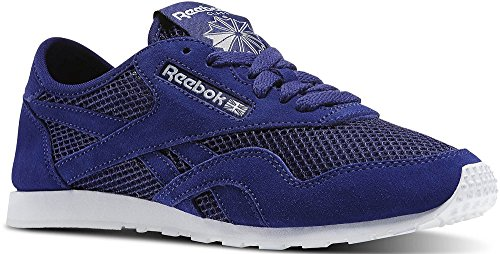Reebok Classic Nylon Slim Mesh Sneaker Schuhe Blau/Weiss, Schuhgröße:EUR 38.5