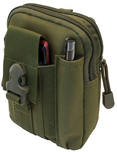Outdoor saxx® – Ceinture Sacoche de ceinture tactique de poche | Case de transport pour équipement de protection téléphone portable Traceur GPS MP3 Player Couteau | Vert olive/Vert
