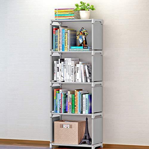 Estantería de Acero Inoxidable de fácil traslado Estantería cúbica Creativa para la decoración del hogar Moderno Estantería (4 estantes)