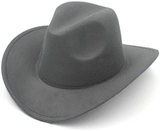 c38307f13 MISSMARCH Fieltro de Lana Sombrero de Vaquero de Fedora Sombrero de Fedora  de Color unánime Sombrero
