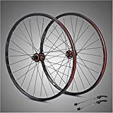 ZSY Ruedas 29 Pulgadas Bicicleta Wheelset Ultralight Fibra de Carbono HUB Frente Rueda Trasera Detalle de Doble Pared Rueda de Freno de Freno con Marca reflexiva Lanzamiento rápido Four Palin