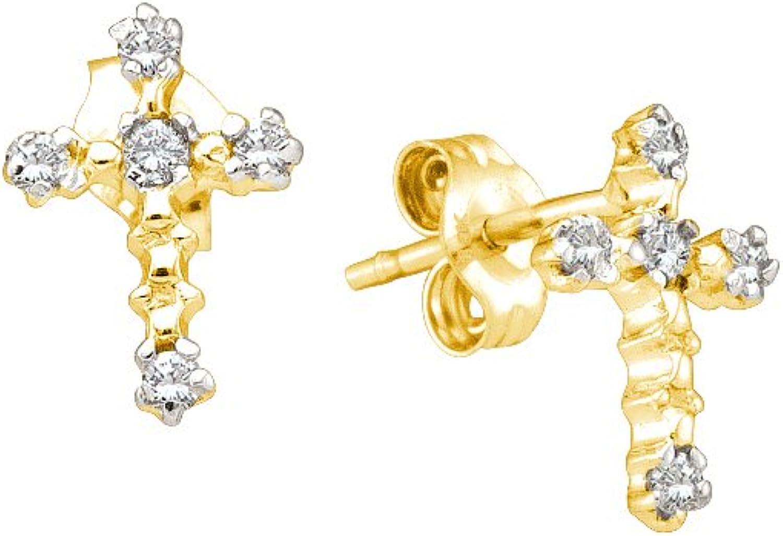 1 20 Carat DIAMOND CROSS EARRING