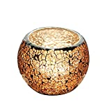 Votive Candle Holders, Mosaic Tea Light Candle Holder, Gold Glass Candle Holder for Wedding Decoration,Party Supplies, Home Decor (Dia75xH80mm