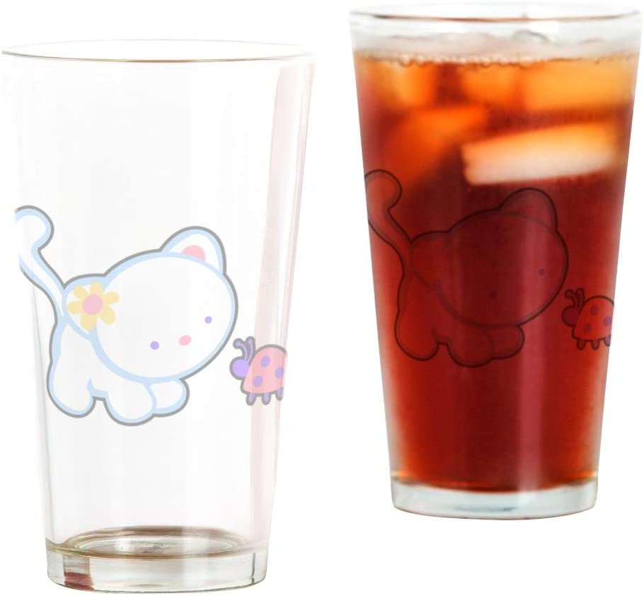 Pint Drinking Direct High quality store Glass Kitty Hello Saying Ladybug to