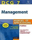 DCG 7 - Management - 5e éd. - Manuel et applications, corrigés inclus