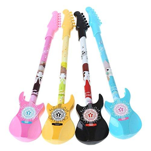 pluma económica del gel de la tinta para el examen de la novedad de la guitarra Plumas Kawaii Gel Pen para la escuela de la oferta premio popular y práctico
