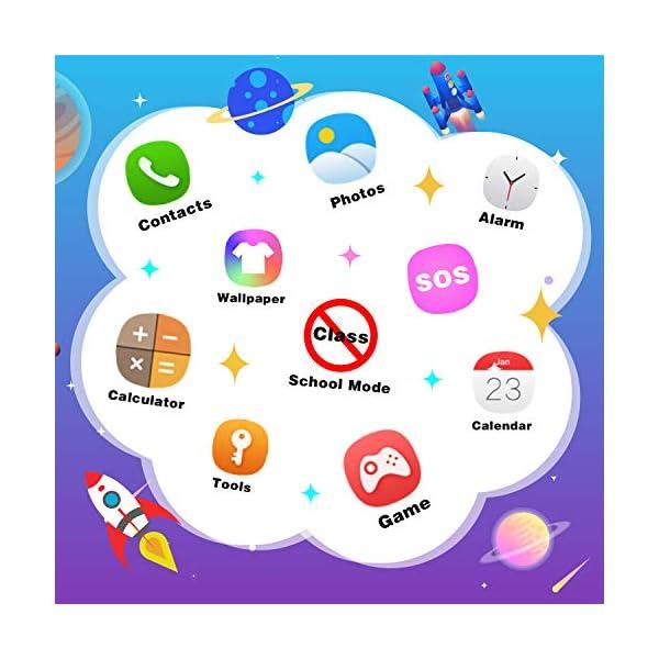 Reloj Inteligente para niños Kids Smartwatch para niños Niñas Juego de teléfono Smart Watch para niños Niños Reproductor… 4