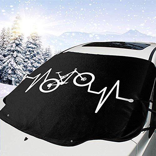 MOLLUDY Protector para Parabrisas Latido de Bicicleta de montaña Protector para Parabrisas con imán Cubierta de Parabrisas Coche Protege de Rayos Antihielo y Nieve