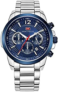 Mini Focus Mens Quartz Watch, Chronograph Display and Stainless Steel Strap - MF0087G.03