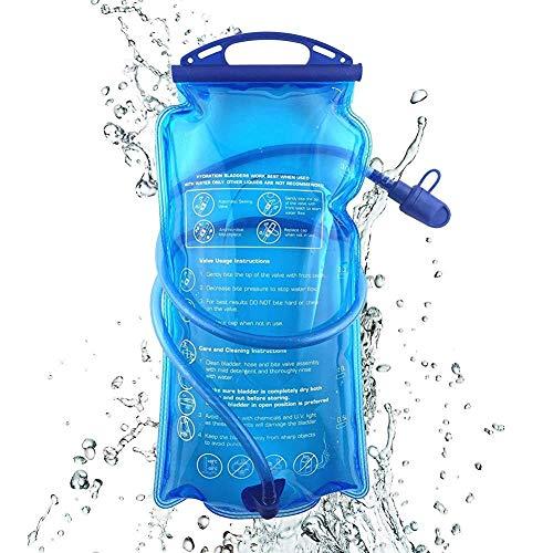 Kacniohen Hydratation vessie 1,5 Litre d'eau de la vessie Réservoir d'eau Grande Ouverture épreuve des fuites d'eau Sac à Bulles Randonnée à vélo Sac d'escalade