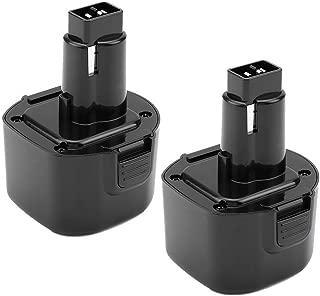 2Pack 3600mAh 9.6V Replace for Dewalt 9.6 Volt Battery Ni-Mh DW9062 Dw9061 DW926 DC750KA DW955K DW955 DW926K-2 DW926K DW902 DW050 DE9062 DE9061 DE9036