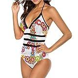 Set de bikini de talle alto, diseño de estrellas y rayas Multi 18 M