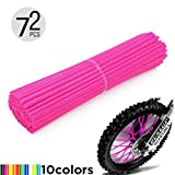 Motorcycle Spoke Skins, 72pcs/lot 24cm Universal Colorful Motocross Dirt Bike Spoke Covers for 8'-21' Rims Kawasaki KX KL-XF KLR KL R-Z400S SM RM2 F750GS Honda CRF XL XLR XR KTM Yamaha XT250-600 WRF