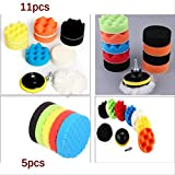 BLI 19pcs 3 Pulgadas de Coches Pulido Pad Esponja para pulir Kit para el Coche Pulido de Limpieza de Herramientas de Pulido Adaptador11pcs