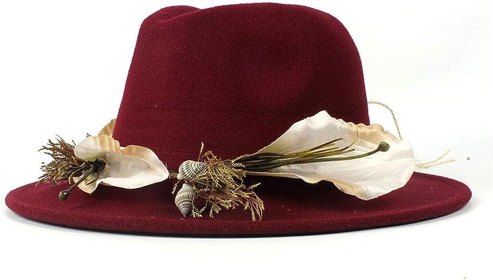 L.W.SUSL New Women Men Fedora Hat for Elegant Lady Girl Wide Brim Jazz Caps with Simple Leopard Ribbon Winter Autumn Top Hats