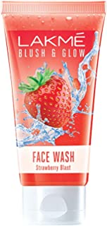 Lakmé Blush and Glow Strawberry Gel Face Wash, 100g