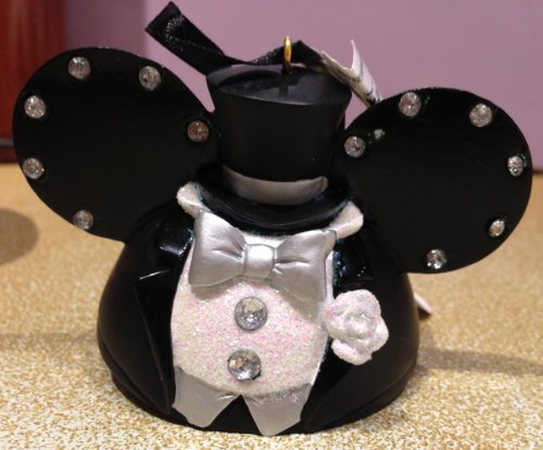 Disney Parks Wedding Groom Mickey Mouse Ears Hat Ornament