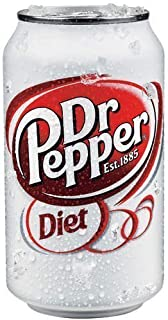 Diet Dr. Pepper Soda, 12 Ounce (24 Cans)