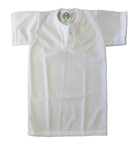 EMC Sports Br & Nameinternal Unisex-Trikot mit Zwei Knöpfen Gr. XL, weiß