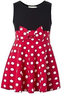 Girls Minnie Princess Dresses Mini Dress for Girls Minnie Costume Baby Girl Dress Polka Dot Dress