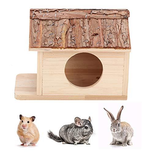 Pssopp Casa de hámster de madera con animales pequeños escondite seguro para hámster pequeño para mascotas para chinchilla rata gerbil hámster ardilla