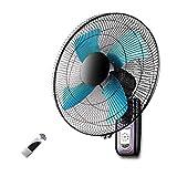 AYXC Ventilador Fan Silencioso,con Mando A Distancia 3 Velocidades 5 Aspas,Ventilador De Pared Ventilador Industrial Power Fan