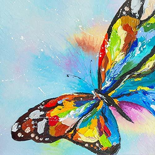 Verf op nummers voor volwassenen, kleurrijke vlinder digitale olie-canvas schilderijsets voor volwassenen, kinderen, verjaardag, bruiloft, accommodatie decoraties geschenken