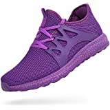 ZOCAVIA Womens Sneakers Ultra Lightweight Knitted Running Shoes Athletic Casual Walking Purple Size 5.5