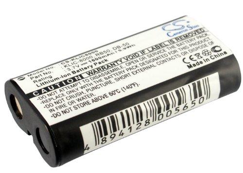 1600mAh 3.7V Battery for Kodak RB50 Easyshare Z1012 is EasyShare Z1015 is Easyshare Z1085 is -  Bongerg