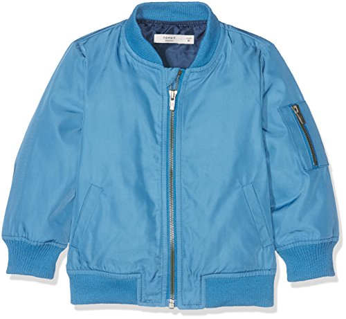 NAME IT Jungen NITMARTEN Bomber Jacket MZ GER Jacke, Blau (Deep Water), 98