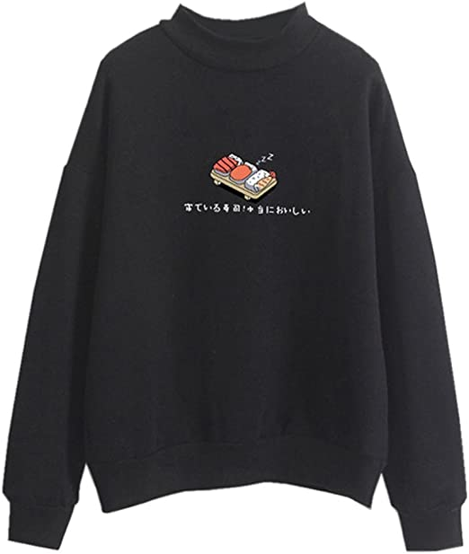 aesthetic sushi sweater tumblr Japanese signs typing