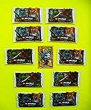 10tarjetas de Lego Booster Ninjago Serie 3–Recibirá 10paquetes con tarjetas de 5+ Bonus tarjeta Serie 2Team legendario LE10
