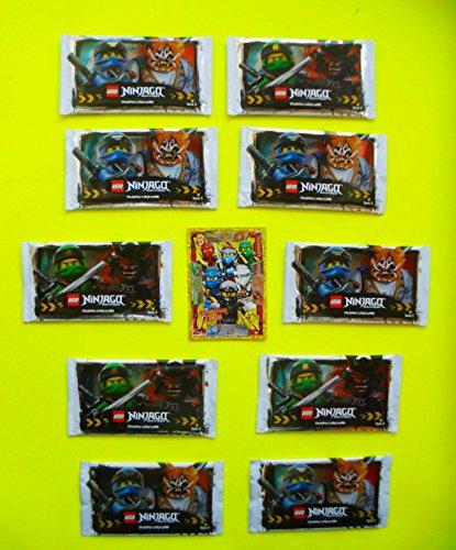 10 LEGO Booster Ninjago Karten Serie 3 - Sie erhalten 10 Packungen mit 5 Karten + BONUS KARTE Serie 2 LEGENDÄRES TEAM LE10