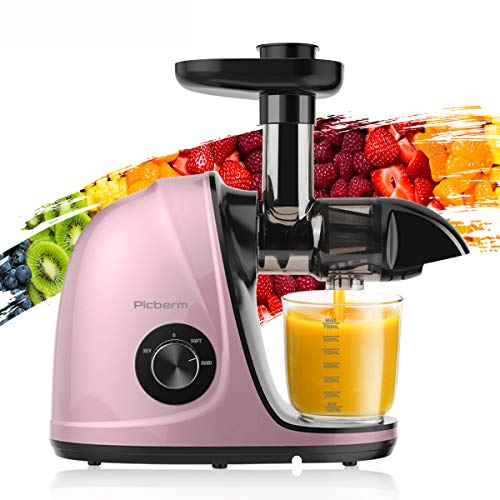 Juicer Machines, Picberm Slow Masticating Juicer Extractor with Quiet Motor...