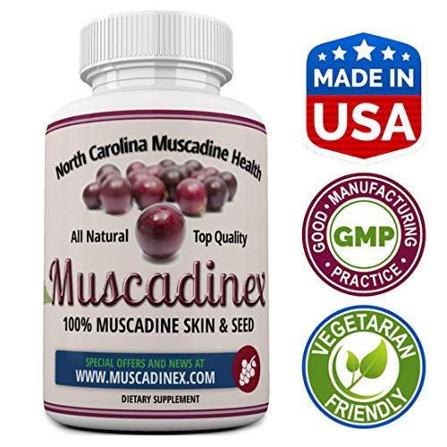 Longevity - Muscadinex MX1. Grape Resveratrol, Ellagic Acid, Quercetin. 60x 650Mg Vegetarian Capsules. The Muscadine is America's Strongest Grape for Polyphenols. Top Quality, Made in The USA.