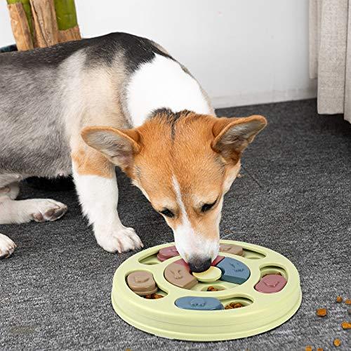 Juguete Rompecabezas Interactivo para Perros Puzzle Toy Juegos Dispensador de Golosinas Alimentador Lento para Perros Pequeños Cachorros Entrenamiento Juguete de Puzle para Perros