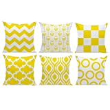 HuifengS New Living Series Funda de cojín para sofá, Cama o sofá, diseño geométrico, 45 x 45 cm, 6 Unidades