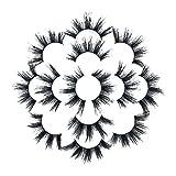 磁気つけまつげ 3Dまつげ セット 自然 長い 柔らかい 快適 カールしたまつげ ナチュラル まつげカーラー 濃い 初心者 再利用可能 化粧品 7Pair Luxury 8D False Lashes Fluffy Stripまつげロングナチュラルパーティー