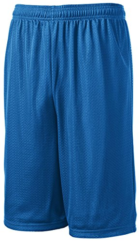 Sport-Tek® Extra Long PosiCharge® Classic Mesh Short. ST511 True Royal L