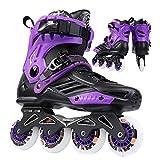 qyy Roller Blades/Skates Adult Women Men Adjustable, Inline Skates Professional Adult Roller Skating Shoe Slalom Sliding Free SkatingPurple-7 Women/5 Men
