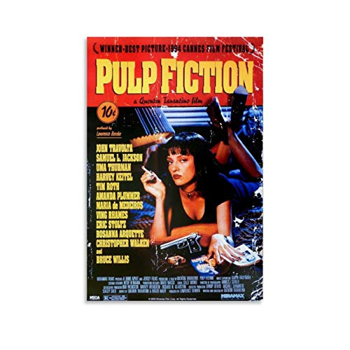 TINGTAI - Poster su tela, motivo: Pulp Fiction, 50 x 75 cm