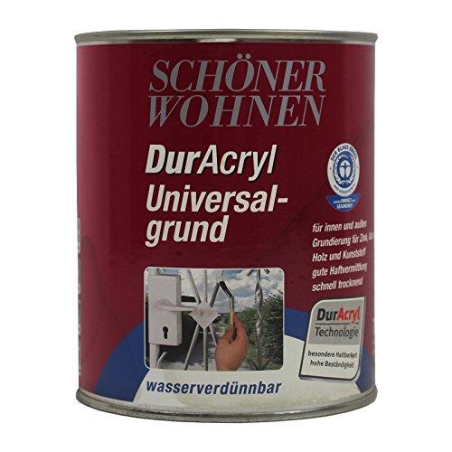 Preisvergleich Produktbild 0, 375L Schöner Wohnen DurAcryl Universalgrund weiss sm Grundierung